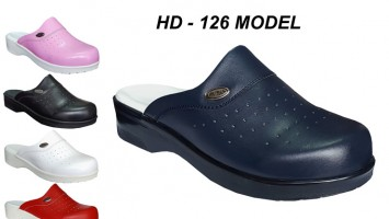 Women Leather Kitchen Chef Clogs HD-126