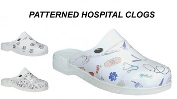 Patterned Hospital Clogs For Men