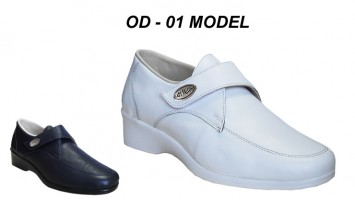 Women Leather Hospital Nursing Shoes Model OD-01
