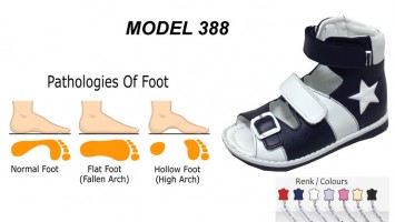 Childs Flat Foot High Sandals Model 388