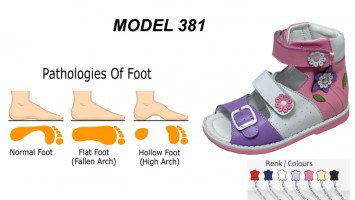 Kid's Flat Foot High Sandals Model 381