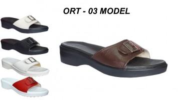 Women's Orthopedic Leather Slippers ORT-03