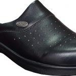 Black-leather-nursing-clogs-women-hd126s