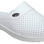 White Orthopedic nursing hospital clogs for female