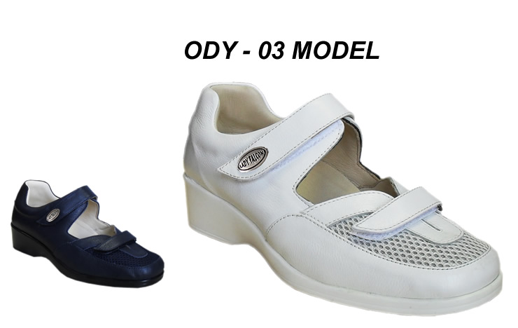 Orthopedic Leather Hospital Shoes for Women ODY-03