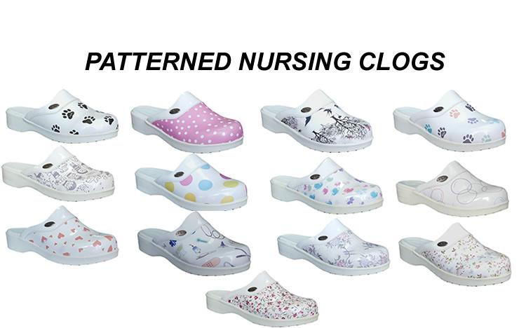 Patterned-Nursing-Clogs