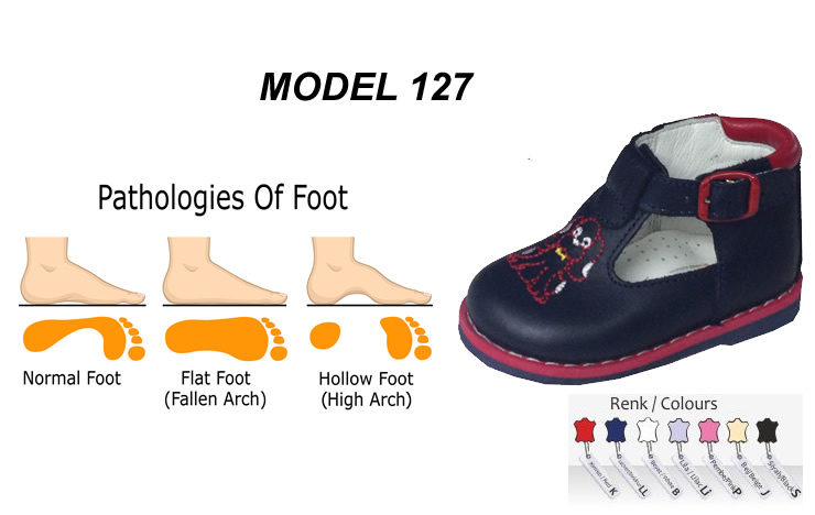 Child Flat Foot Shoes Model 127
