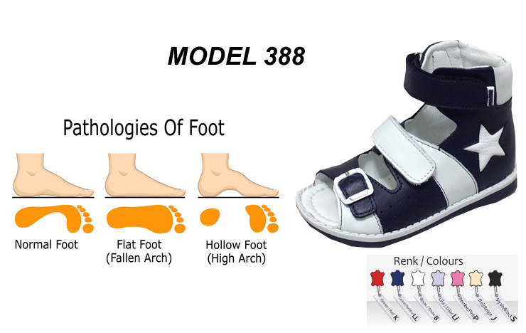 Orthopedic Shoes For Kids Flat Feet Model 388