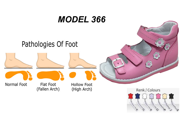 Flat Foot and High Arch Sandals for Child Model 366