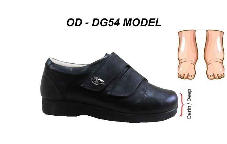 Men's Diabetic Orthopedic Shoes for Swollen Feet Problems OD-DG54
