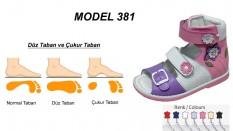 Çoçuk Düz Taban Yüksek Sandalet Model 381