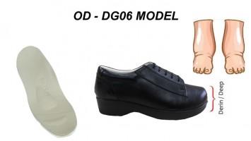 Ödemli ve Şiş Ayaklar için Diyabet Ayakkabısı Bayan OD-DG06
