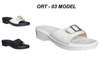 Bayan Deri Ortopedik Hac Umre Terlikleri ORT-03
