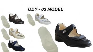 Bayan Hakiki Deri Diyabet Ayakkabısı ODY-03