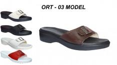 Bayan Ortopedik Terlik Deri Model ORT-03