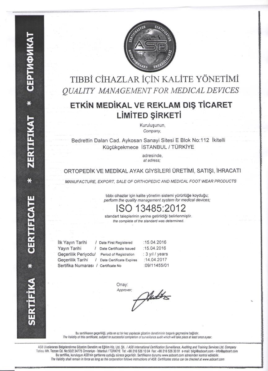 ISO-13485 Certificate