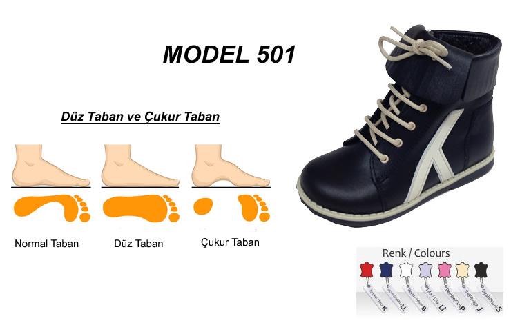 Çocuk İçe ve Dışa Basma Düz Taban Yüksek Botu Model 501