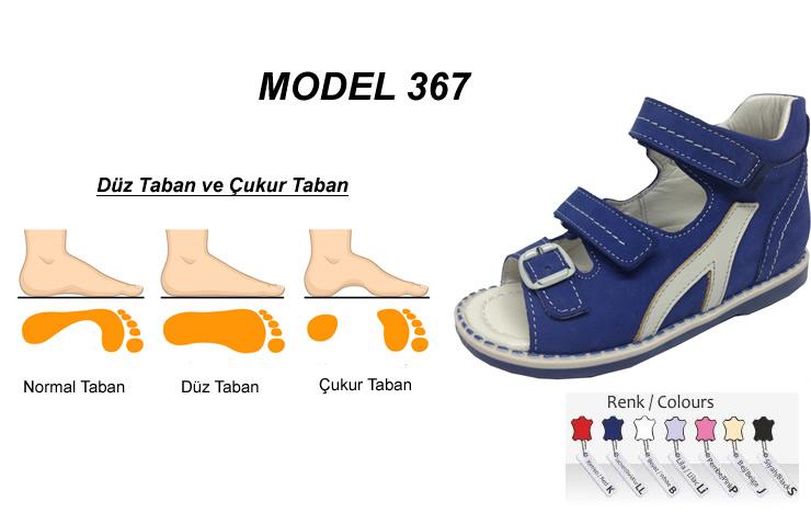 Ark Destekli Düz Taban Çocuk Sandalet Model 367