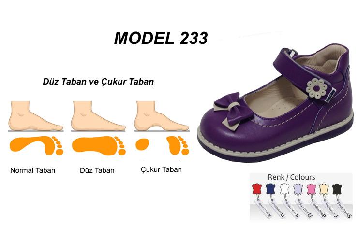 Düz ve Çukur Taban Çocuk Ayakkabısı Model 233