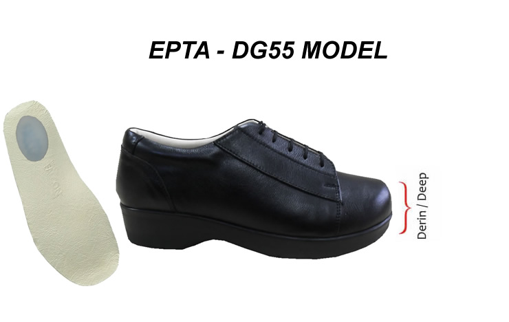 Erkek Topuk Dikeni Ayakkabısı Extra Geniş ve Derin