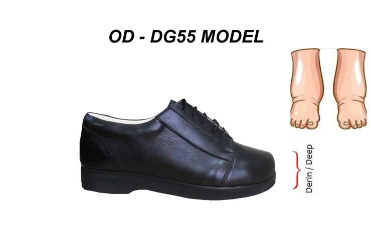 Ortopedik Ekstra Geniş Diyabet Ayakkabısı Erkek OD-DG55